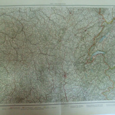 Harta color Franta partea de est Leipzig 1899 - Harta Frantei