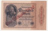 (6) BANCNOTA GERMANIA - 1 MILLIARDE MARK 1922 (15 DECEMBRIE 1922), SUPRATIPAR, FILIGRAN CU SPIRALA, SERIE CU CIFRE MARI, STARE BUNA