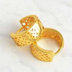 Cercei 9K gold filled - Cercei placati cu aur