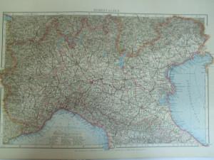 Harta color Italia de nord   Leipzig 1899