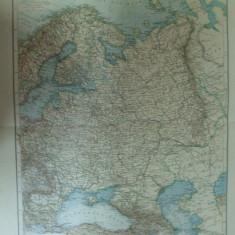 Harta color Rusia europeana   Leipzig 1899