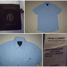 Camasa JACK - JONES PREMIUM : original casual sport - marimea M - Second Hand - Camasa barbati Jack & Jones, Marime: L, Maneca scurta, Bleu
