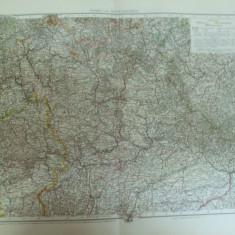 Harta color Germania Bayern nord si mijloc Leipzig 1899