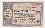 (1) BANCNOTA (NOTGELD) - GERMANIA - AACHEN - 1.000.000 MARK 1923 (20 IULIE 1923) , STARE FOARTE BUNA