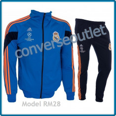 Trening ADIDAS REAL MADRID - Bluza si pantaloni conici - Modele noi Pret Special - Trening barbati, Marime: S, Culoare: Din imagine