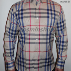 Camasi BURBERRY Model NOU de Sezon - Slim Fit !!! - Camasa barbati Burberry, Marime: L, XL, Culoare: Maro, Maneca lunga