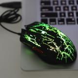 Mouse Optic 2400DPI Foarte Bun Pentru Jocuri  cu 6 Butoane , Efect Vizual Foarte Bun Schimbandu-si culoarea, USB, Optica, Peste 2000