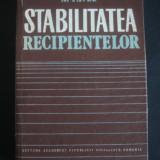 A. PAVEL - STABILITATEA RECIPIENTELOR - Carti Energetica