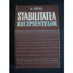 A. PAVEL - STABILITATEA RECIPIENTELOR
