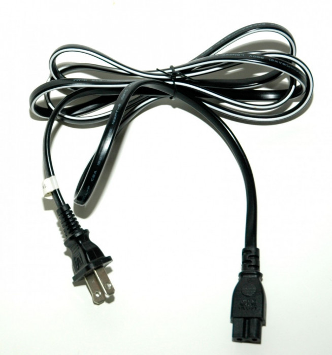 Cablu alimentare american 18AWG fara impamantare IEC C7 - NEMA 1,8m