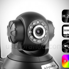 Camera IP wireless & lan de supraveghere cu inregistrare pe card H6837WI