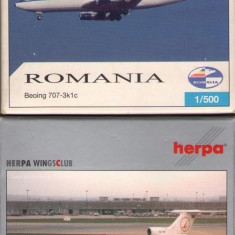 Lot 4 Avioane Herpa (1/500): Romavia + Tarom / Amintiri RSR / F446 - Macheta Aeromodel