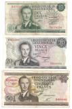 LUXEMBURG 10 FRANCI FRANCS 1967 U, 20 FRANCI FRANCS 1966 F, 50 FRANCI FRANCS 1972 F - pret per lot