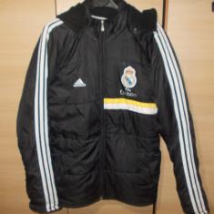 Geaca barbat Real Madrid-Adidas - Geaca barbati Adidas, Marime: L, Culoare: Negru, Negru, Poliester