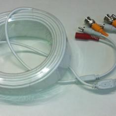 Cablu CCTV pt camera camere supraveghere video 50 metri cu mufe Video