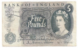 ANGLIA 5 POUNDS LIRE ND (1963-71) VF