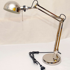 Lampa de birou din metal nichelat - calitate exceptionala - si pe negru - Noua