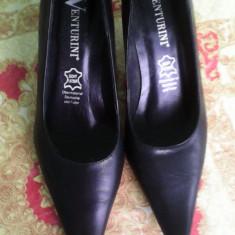 Pantofi gala venturini - Pantof dama, Negru, Marime: 36