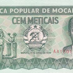 Bancnota Mozambic 100 Meticais 1989 - P130c UNC