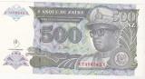 Bnk bn zair 500 zaires 1993 unc