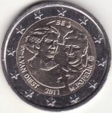 Moneda - Regatul Belgiei - 2 Euro 2011 - A 100-a aniversare a Zilei Internationale a Femeii