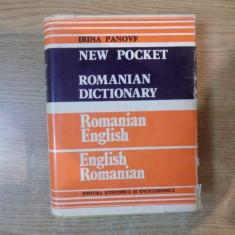 DICTIONARY ROMANIAN-ENGLISH / ENGLISH-ROMANIAN de IRINA PANOVF, Bucuresti 1985 - Carte in alte limbi straine
