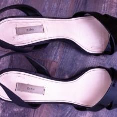 Sandale Zara masura 40 - Sandale dama Zara, Culoare: Negru