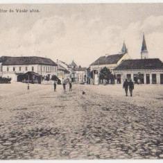 Orastie, Vedere, animata, francata, circulata in 1911 - Carte Postala Transilvania 1904-1918