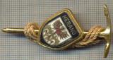 1523 INSIGNA INTERESANTA DE ALPINISM(piolet si franghie) -MERANO - NORDUL ITALIEI -starea care se vede
