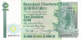 Bancnota Hong Kong (Standard Chartered) 10 Dolari 1987 - P278b UNC