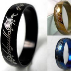 Inele Lord Of The Rings LOTR Disponibile in 3 Culori : ALBASTRU NEGRU SI AURIU