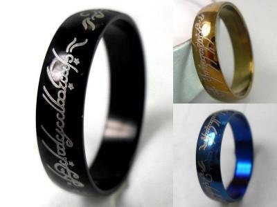 Inele Lord Of The Rings LOTR Disponibile in 3 Culori : ALBASTRU  NEGRU SI AURIU foto