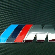 Emblema metal auto M Power pt BMW metalica adeziv prefesional inclus - Embleme auto