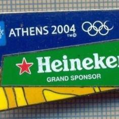 1531 INSIGNA OLIMPICA -ATHENS(ATENA) 2004 -HEINEKEN -GRAND SPONSOR  -starea care se vede