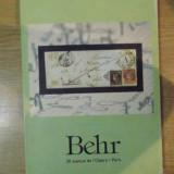 BEHR , CATALOG PENTRU LICITATII DE TIMBRE , JANVIER A MAI 2003 , PARIS