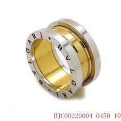 Inel BVLGARI Placat Cu Aur 18K - Marime Disponibila : 8 - Inel placate cu aur