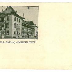 695 - Bacau, SLANIC MOLDOVA, Hotelul PUFF - old postcard - used - 1906 - Carte Postala Moldova 1904-1918, Circulata, Printata