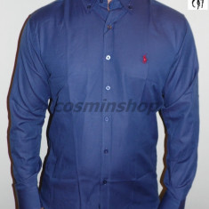 Camasi POLO RALPH LAUREN - Slim Fit - Alb / Bleumarin - Model NOU !!! - Camasa barbati Polo By Ralph Lauren, Marime: L, XL, Maneca lunga