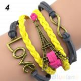 Bratara Piele - Love - Turnul Eiffel - Infinit - COD 5