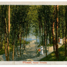 34 - Arges, PITESTI, Parcul Trivale - old postcard - unused - 1918 - Carte Postala Muntenia 1904-1918, Necirculata, Printata