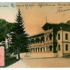 696 - Bacau, SLANIC MOLDOVA, Hotel Cerbu - old postcard - used - 1910 - Carte Postala Moldova 1904-1918, Circulata, Printata