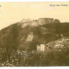 591 - Bucovina, SUCEAVA, Ruinele Cetatii - old postcard - used - 1913 - Carte Postala Bucovina 1904-1918, Circulata, Printata