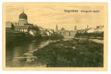 950 - ORADEA, Synagogue, Romania - old postcard - used - 1913