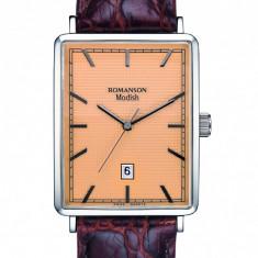 Ceas Romanson barbatesc cod DL5163N MW-GD - pret vanzare 319 lei; NOU; ORIGINAL; ceasul este livrat in cutie si este insotit de garantie - Ceas barbatesc Romanson, Elegant, Quartz, Inox, Piele, Data