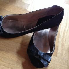 Balerini Zara negri cu fundita mas 36 - Balerini dama Zara, Culoare: Negru, Negru