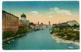 1082 - ORADEA, Synagogue, river Cris - old postcard - used - 1917, Circulata, Printata