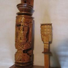 VULTUR-sculptura in lemn, Animale