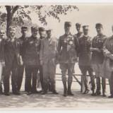 Vizita generalului francez Henri Gouraud (comandantul fortelor aliate din Levant - WW 1) la Calimanesti, 1930 - Fotografie veche