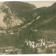 1689 - Arges, RUCAR, case distruse, bombardate - old postcard real PHOTO unused