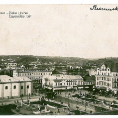 838 - ORADEA, Market Unirii - old postcard, real PHOTO - used - 1933 - Carte Postala Crisana dupa 1918, Circulata, Fotografie